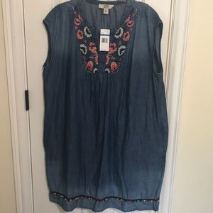 NWT XL Vintage America Casual Dress Ombré Jean